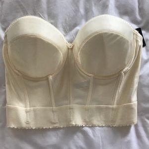 Dominique strapless bra with corset  Size 38D